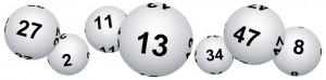 Bannire boules de loto pour le vendredi treize